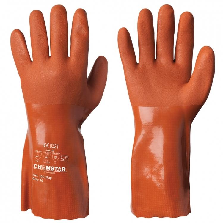 Chemstar® kemikalieresistenta handskar i vinyl
