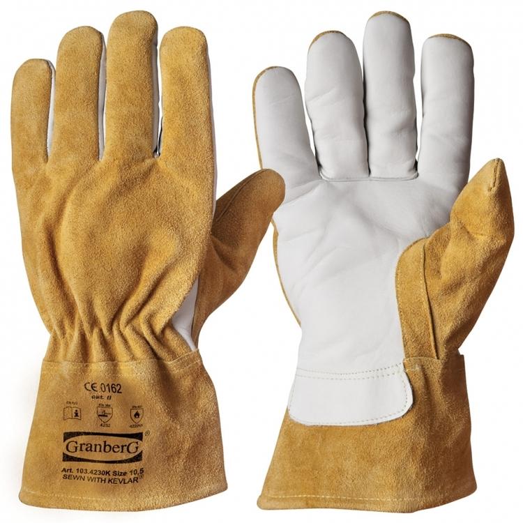 Granberg® arbets-/svetshandskar i oxnarv, helfodrade