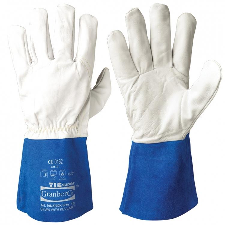 Granberg® argonhandskar i getskinn, ofodrade för TIG-svetsning