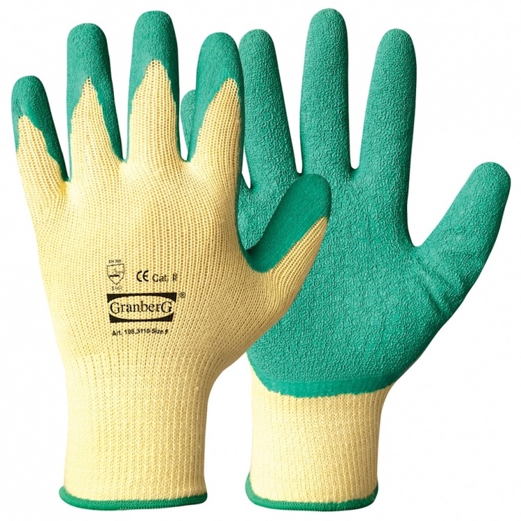 Granberg® arbetshandskar belagda med latex