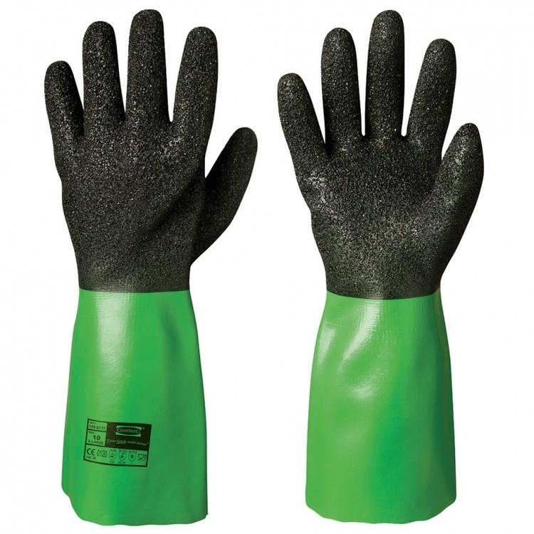 Granberg® kemikalieresistenta handskar i vinyl. 109.8135