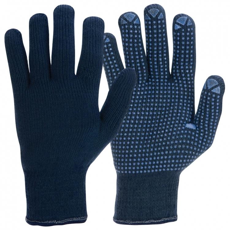 Granberg® stickade vinterhandskar med mikronoppor i vinyl/PVC. 110.0380