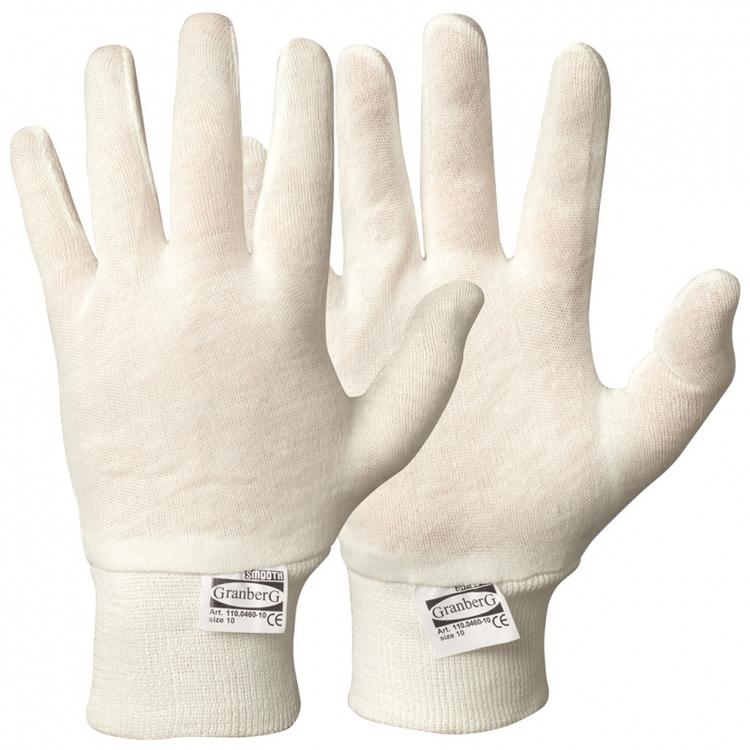 Granberg® innerhandskar i bomull, stickad mudd. 110.0460