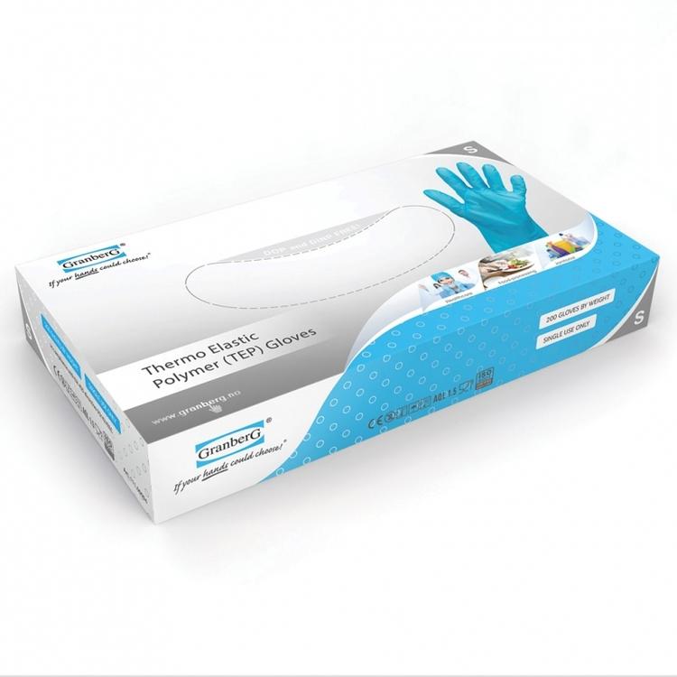 200-pack Granberg® puderfria engångshandskar thermo elastic polymer,111.0094