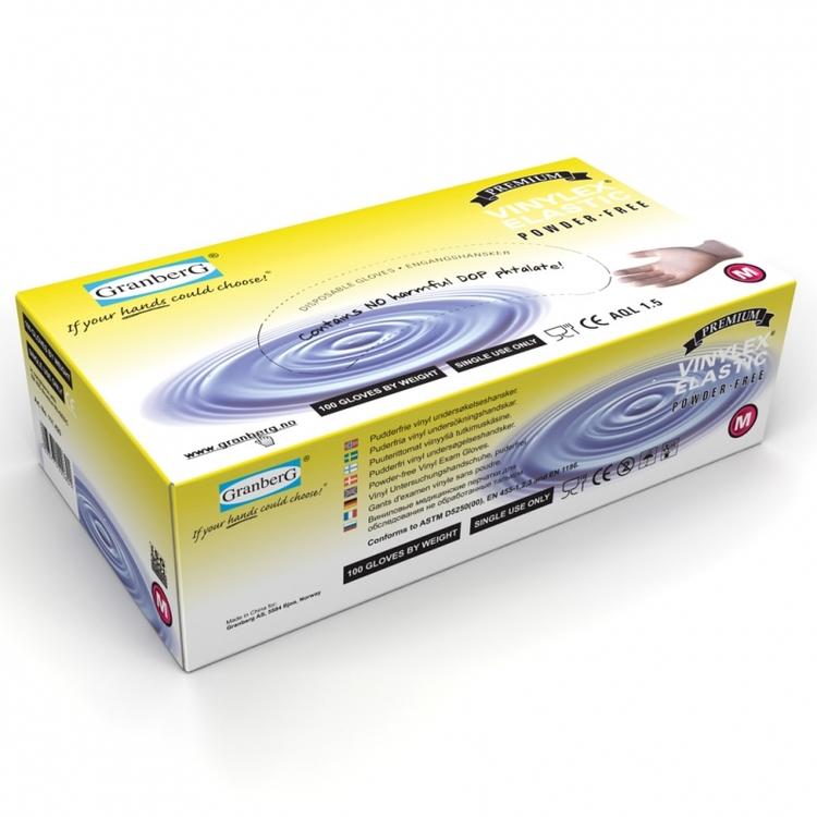 Vinylex syntetiska engångshandskar, puderfria. 111.420