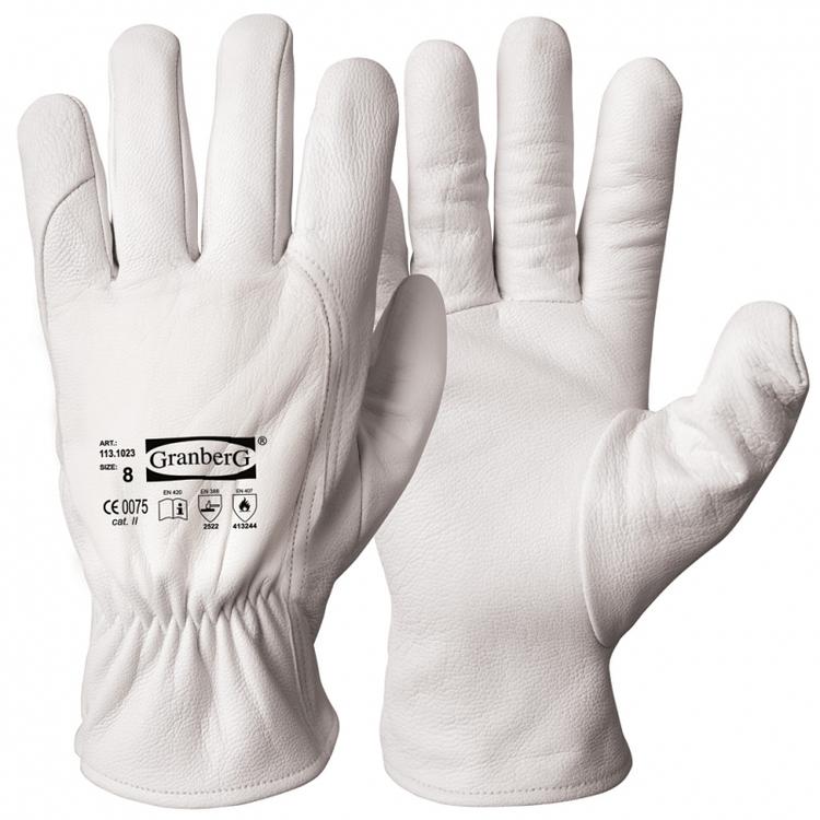 Granberg® montagehandskar i getskinn, värmebeständiga med skärmotstånd. 113.1023