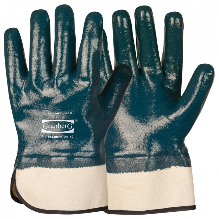 12-pack Granberg® arbetshandskar, heldoppade med nitrilöverdrag