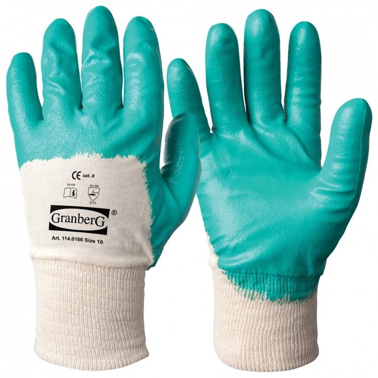 Granberg® arbetshandskar med nitrilöverdrag. 114.0166