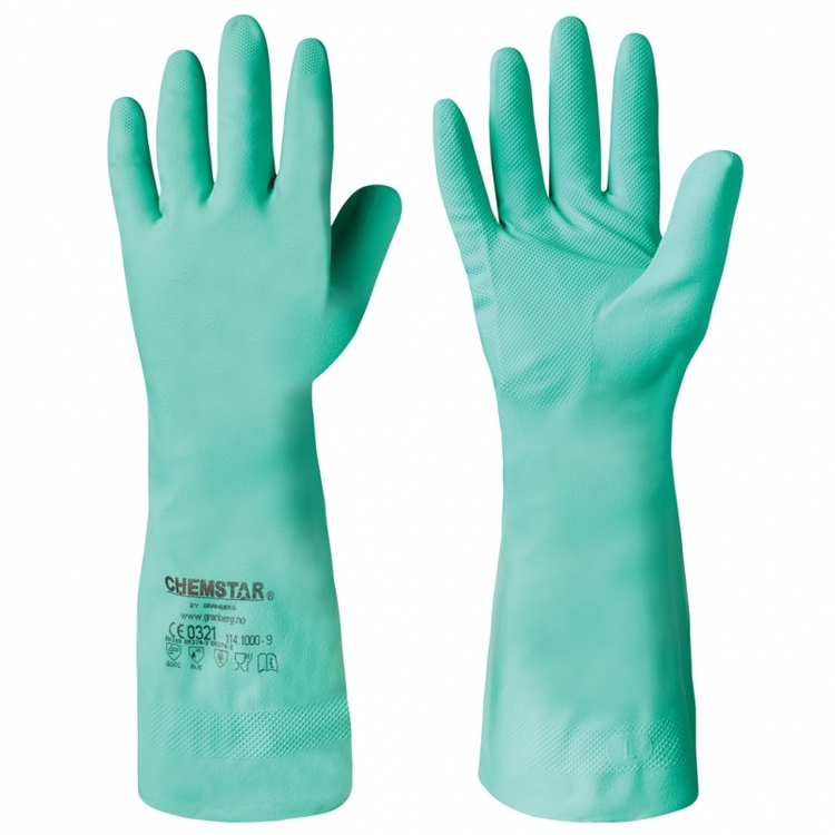 12-pack Chemstar® kemikalieresistenta handskar i nitril