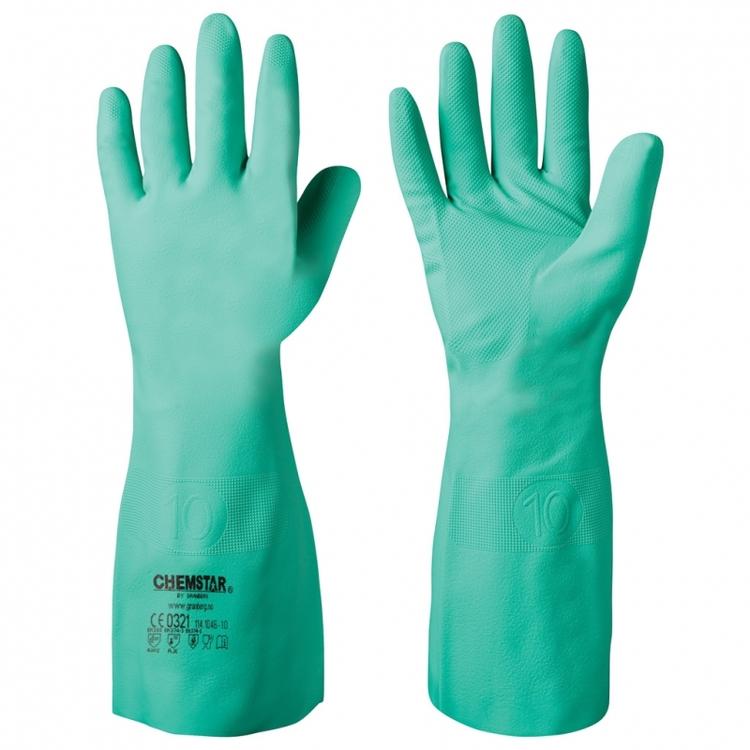 Chemstar® extra långa kemikalieresistenta handskar i nitril. 114.1046
