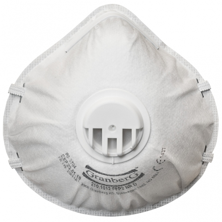 10-pack Filtermask mot damm FFP2 NR D