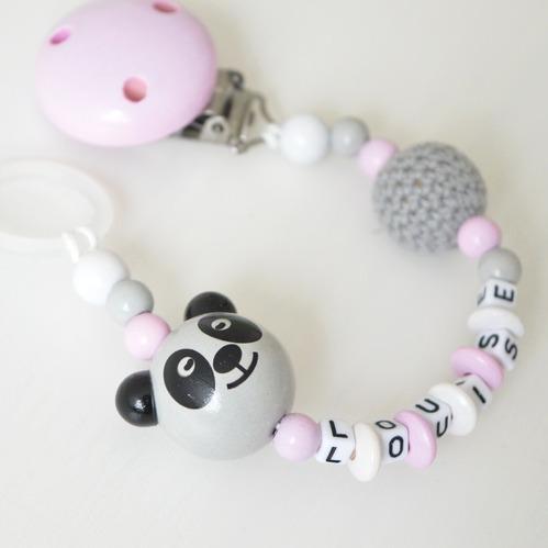 Personlig napphållare med namn, panda