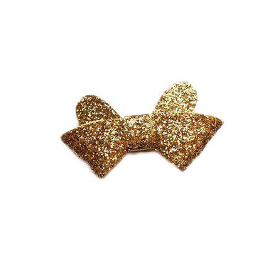 Glitter rosett clips - Guld