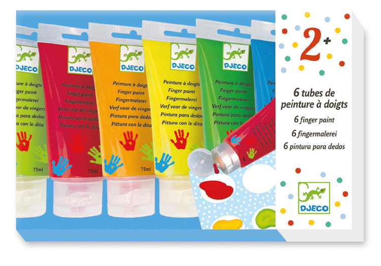 Fingerfärg  6-pack - Standard