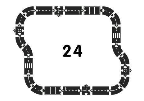 Landsväg i naturgummi - 24 delar