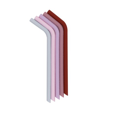 Sugrör i silikon - Rosa