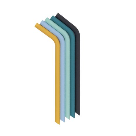 Sugrör i silikon - Blå