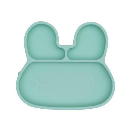 Tallrik i silikon - Mint Kanin