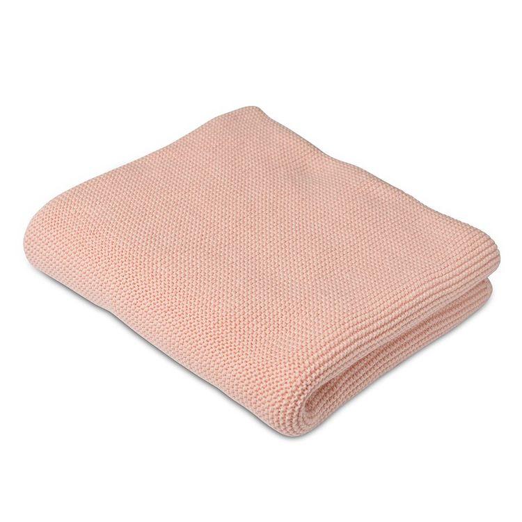 Stickad filt - Rosa
