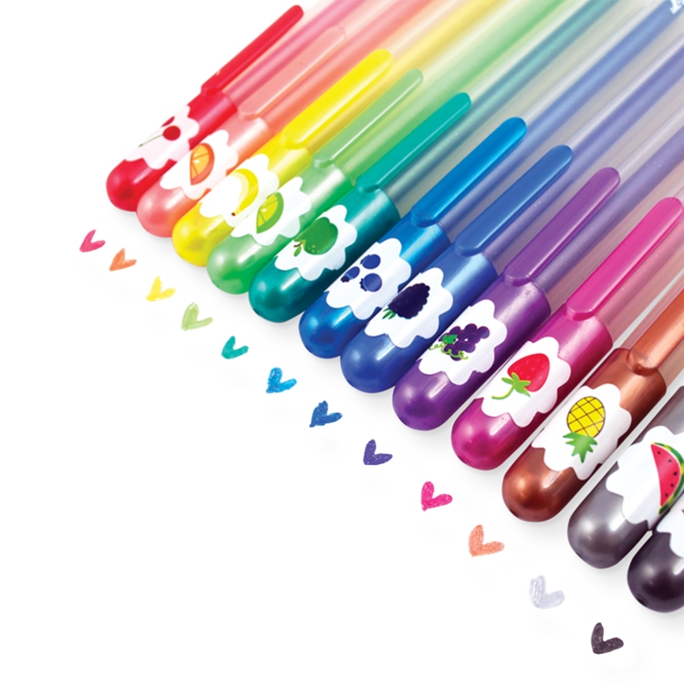 Glitterpennor med doft - Yummy Yummy