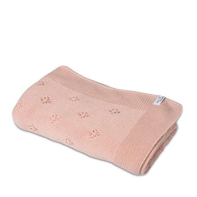 Stickad filt - Lovely Rosa