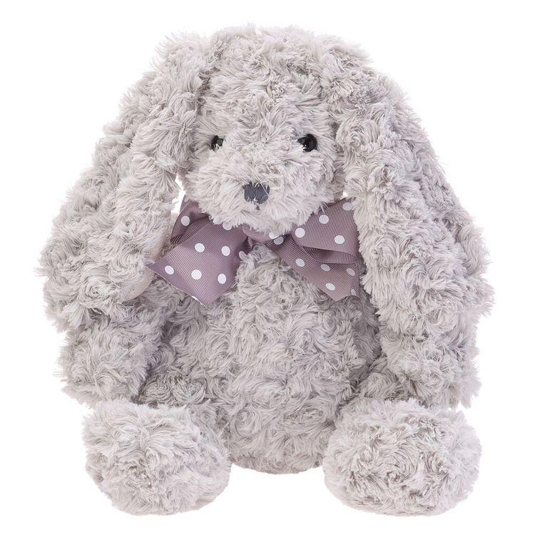 Gosedjur -Grå kanin med rosett