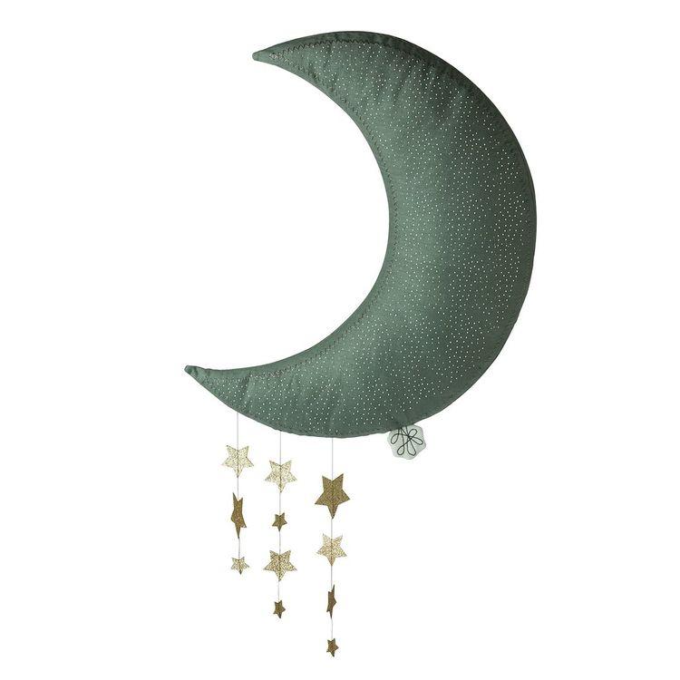Måne med stjärnor - Grå