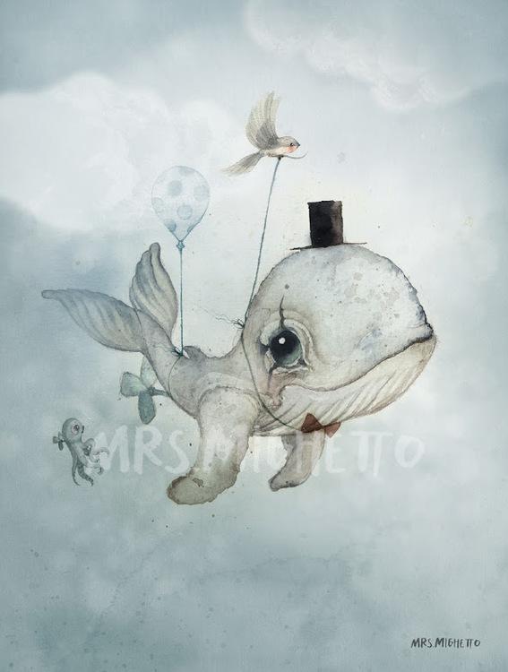 Poster 50*70 cm - Dear Whalie