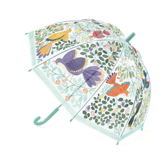 Paraply - Fåglar & blommor