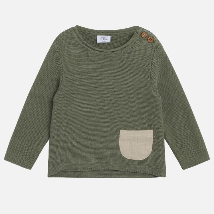 Stickad tröja - Grön