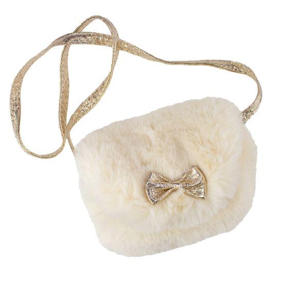 Fluffig väska med rosett