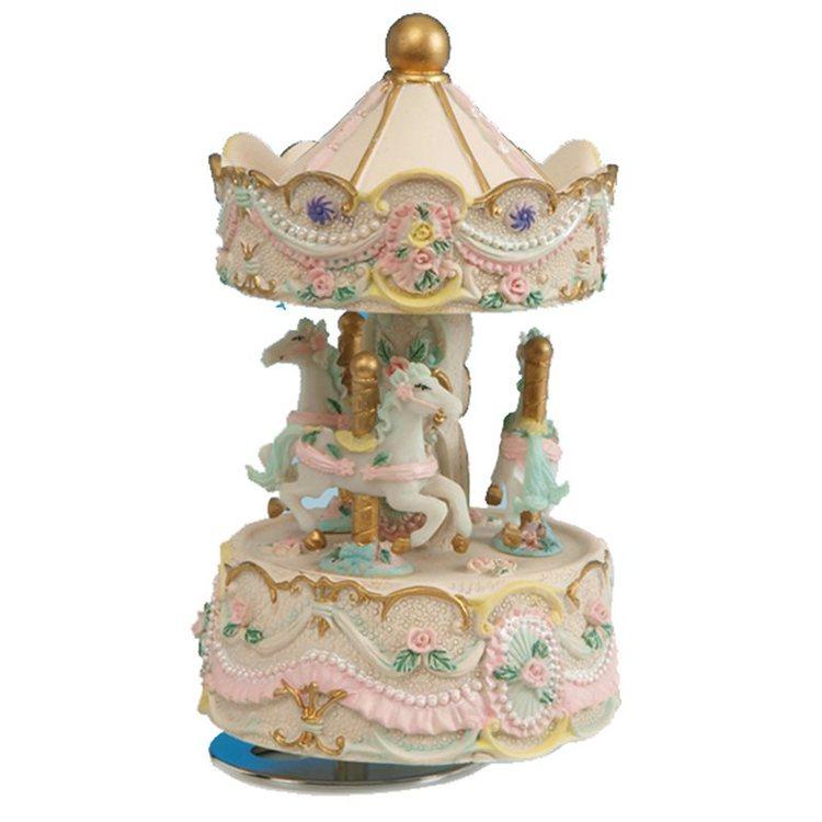 Speldosa - Liten karusell i pastell