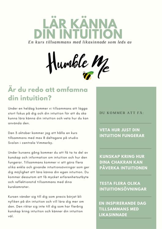 Intuitionskurs 3 oktober 2021