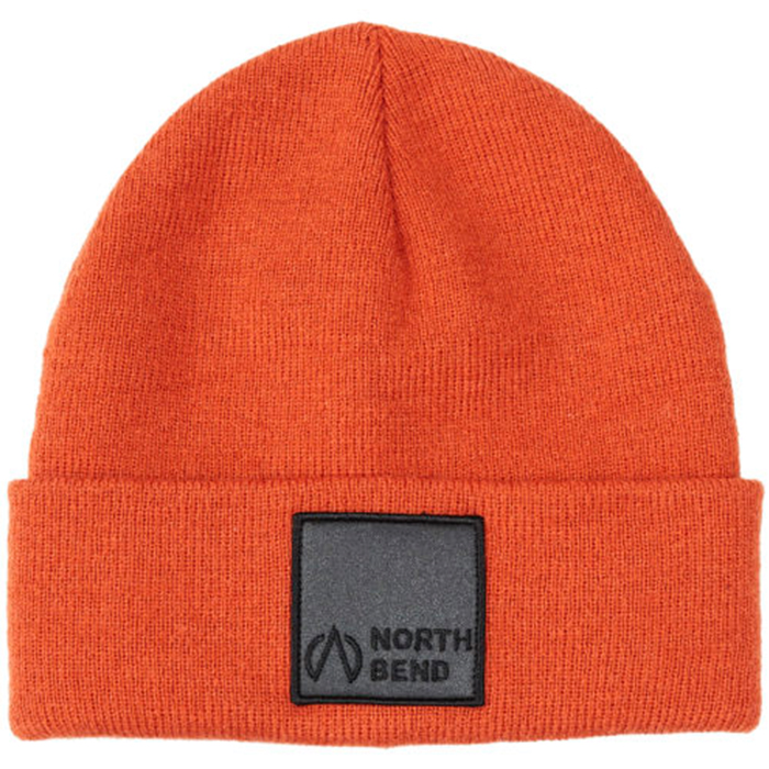 North Bend Fold Rib Beanie Sr Orange