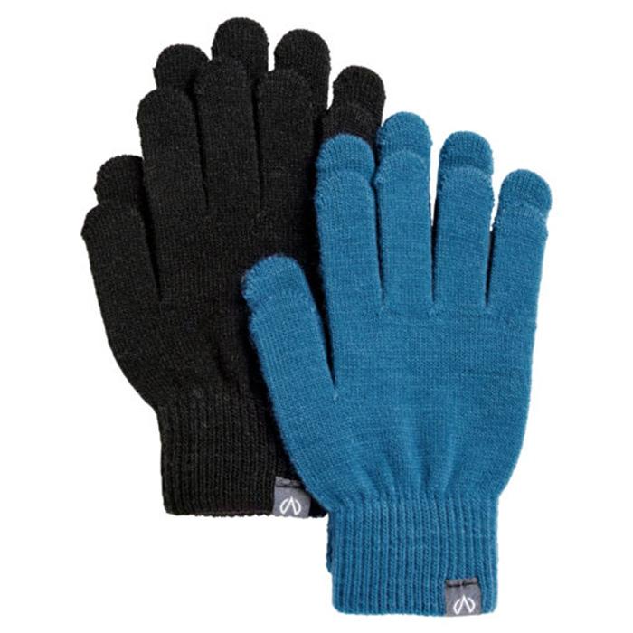 North Bend Magic Gloves 2-Pack JR - Svart & Blå