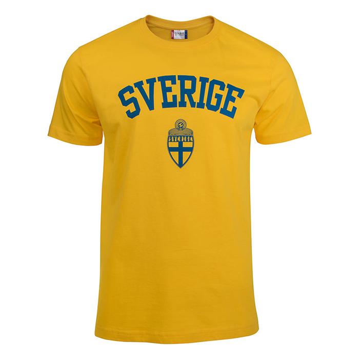 Sverige T-Shirt Gul Sr