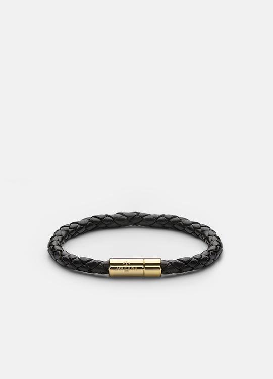 Leather Bracelet Gold 6mm