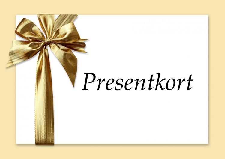 Presentkort välj mellan 250-20000 kr