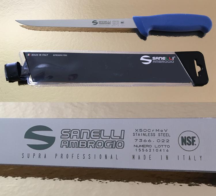 Fillékniv/Slaktkniv SANELLI 22 cm, blå
