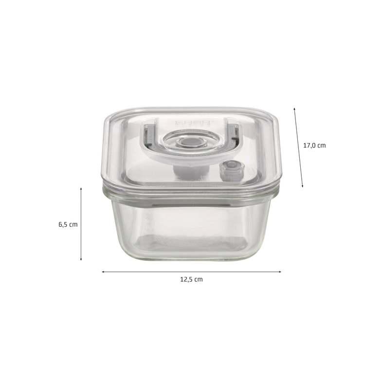 Vakuumbehållarsats (Glas) 4-pack med pump