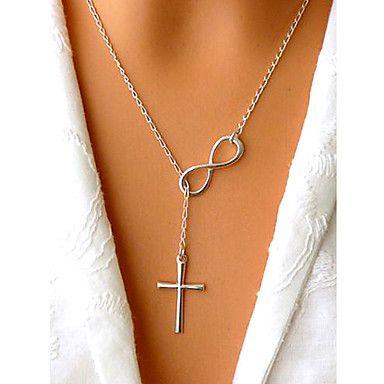 Halsband Oändlig med Kors