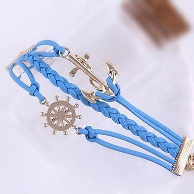 Armband ankare blå