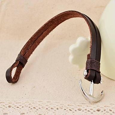 Läderarmband ankare