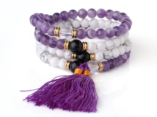 Armband / Halsband Fantastic Lila och Vit