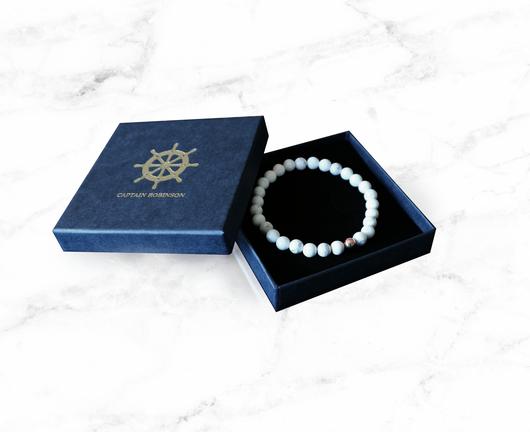 White Marble Rose Gold + Exklusiv armbandsbox (rea)