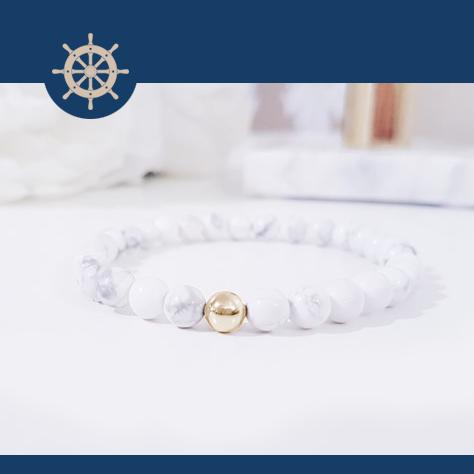 White Marble Gold + Exklusiv armbandsbox (rea)