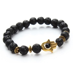 Lava Stone Gold Armband