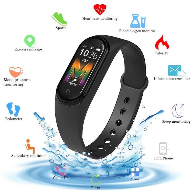 SmartWatch - Stegräknare - Pulsmätare - Kalorier - Sovmätare