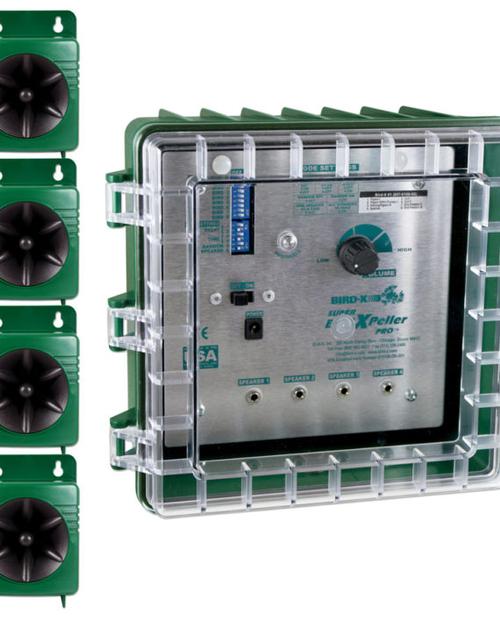 Super BirdXPeller® PROs har 4-högtalarsystem och 1 st standardchip (ord 13900 kr).