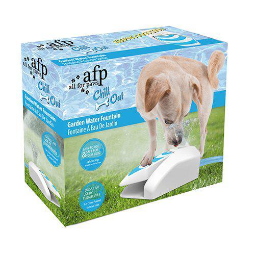 Vattenfontän chill out lek till hunden